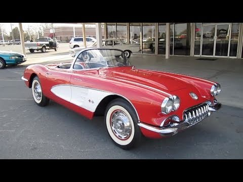 1960 Chevrolet Corvette Fuel Injected 4 Spd Start Up Exhaust And