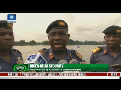 Navy Launches Operation Tsare Teku  In Warri To Tackle Illegal Refineries