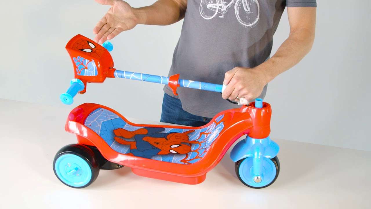 Huffy Spider Man Electric Scooter How To Assemble 18506 Youtube