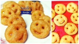 Potato,Suji Smiley|Homemade McCain Recipe |Emoji Snacks Recipe