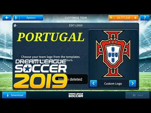 How To ⚫Logo Kits Portugal 2018 ⚫Dream League Soccer 2019