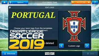 How To ⚫Logo Kits Portugal 2018 ⚫Dream League Soccer 2019