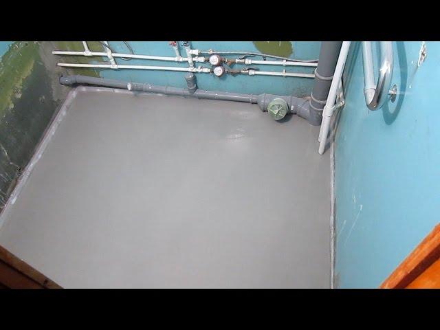 Наливной пол старатель своими руками видео гидроизоляция подвалов одесса