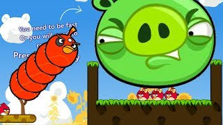 Angry Birds Cannon 3 - BOMBER BLASH THROW AWAY ALL PIGGIES RESCUE GIRLFRIEND!