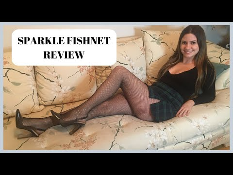 SPARKLE FISHNETS | REVIEW & TRY ON
