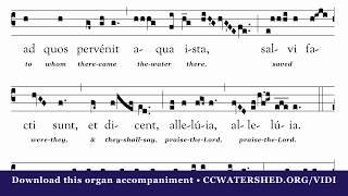 """Vidi Aquam"" Organ Accompaniment by Jeff Ostrowski"