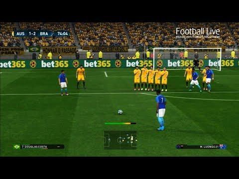 PES 2017 | Australia vs Brazil | Douglas Costa Free Kick Goal & Full Match | Gameplay PC