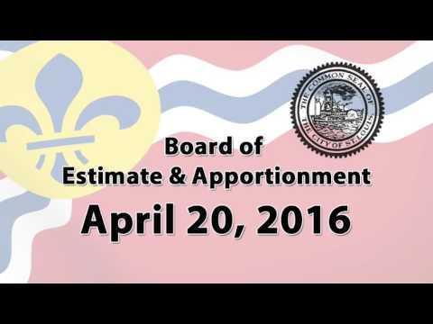 Board of Estimate & Apportionment   April 20, 2016