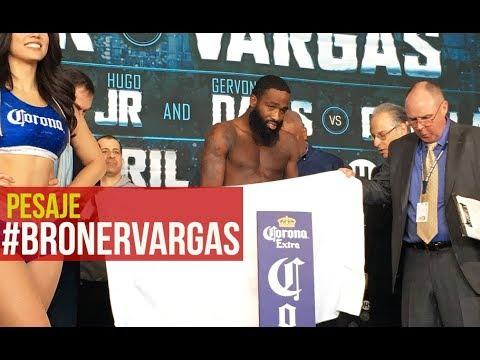 Adrien Broner vs Jessie Vargas Official Weigh-In Live/ Pesaje Oficial