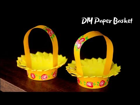 DIY Paper Basket | Paper Cup Craft Ideas | Easter Basket Ideas | DIY Crafts