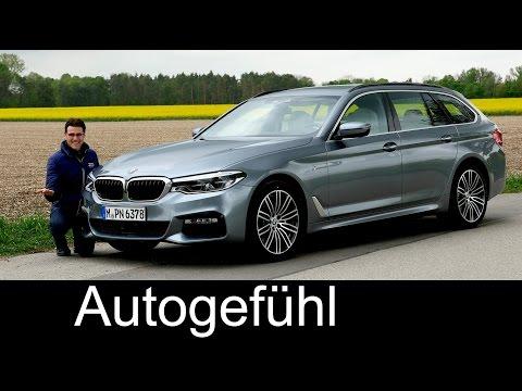 BMW 5 Series Touring 5er FULL REVIEW 530d G31 test driven new neu 2017 - Autogefühl