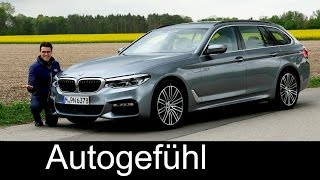 BMW 5 Series Touring 5er FULL REVIEW 530d G31 test driven new neu 2017 - Autogefühl