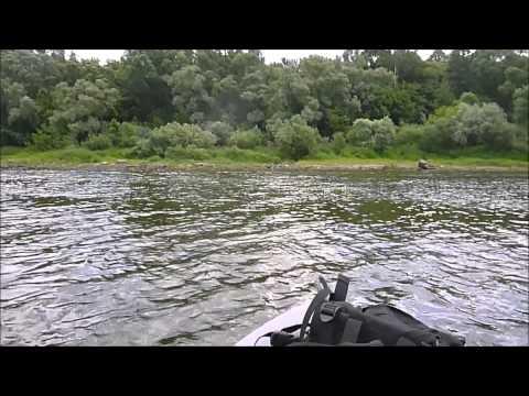 сплав на лодке по реке ока