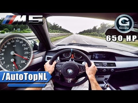 BMW M5 V10 BI-SUPERCHARGED G POWER AUTOBAHN POV by AutoTopNL