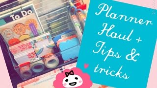 PLANNER SUPPLIES HAUL + HOW I ORGANIZE MY SUPPLIES