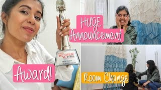 #SejalVlogs: Awards + Changing my room + HUGE announcement | Sejal Kumar
