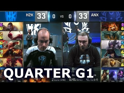 H2K vs ANX - Game 1 Quarter Finals Worlds 2016 | LoL S6 World Championship H2K vs Albus Nox Luna G1
