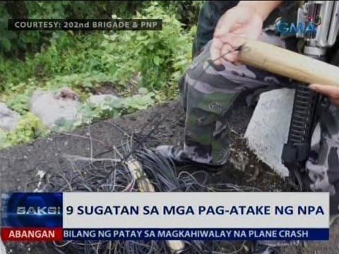 Saksi: 9 sugatan sa mga pag-atake ng NPA