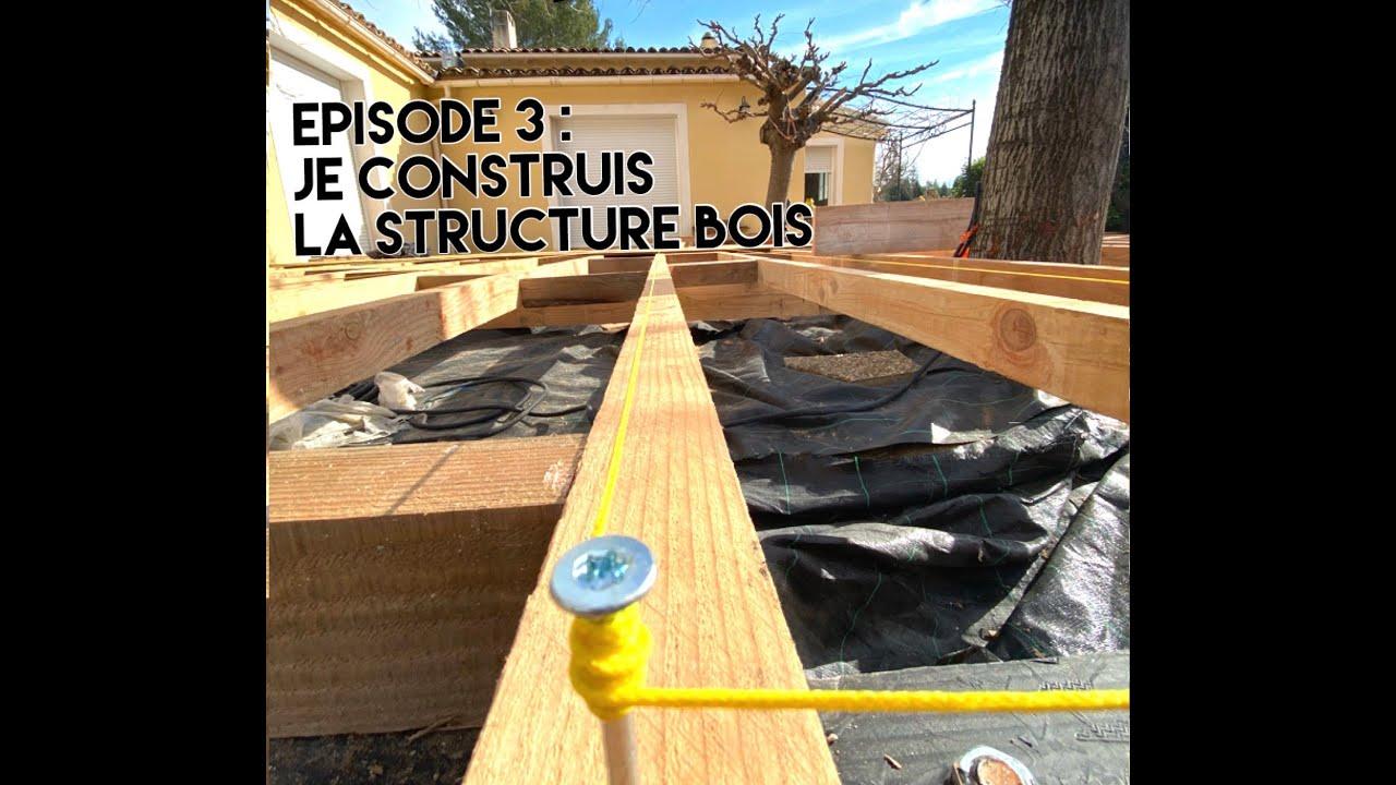 Construire Terrasse En Bois je monte la structure en bois !! #terrasse bois #construire sa terrasse en  bois
