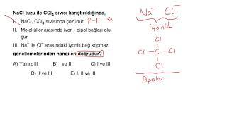 TYT Kimya Full Çeken Soru Bankası - Bölüm 4 - Mavi Sorular - Test 5 - Soru 5
