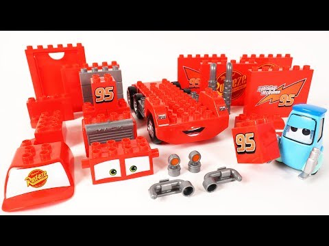 Cars Guidos Block Building Mack Truck Block Toys Assembly Video for Kids
