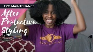 WASH DAY ROUTINE after Protective Styling | Naturally Shell