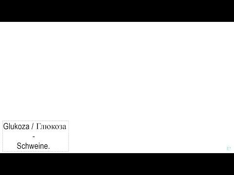 Schweine - Glukoza / Глюкоза - Швайне (Ruso / Español)