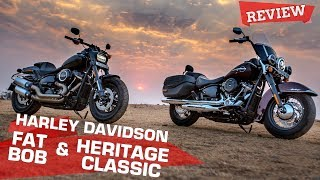 2018 Harley-Davidson Fat Bob & Heritage Classic review | Softails come of age | ZigWheels.com