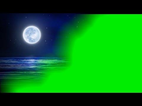 Wedding Background Video Green Mat Night view   Moon Light Green Key Effects thumbnail