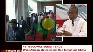 Midday Live - Discuss Outcomes of  45th Ecowas Summit - 11/7/2014