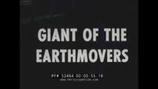 "CATERPILLAR D9 BULLDOZER TRACTOR SALES FILM  ""GIANT OF THE EARTHMOVERS""  52464"