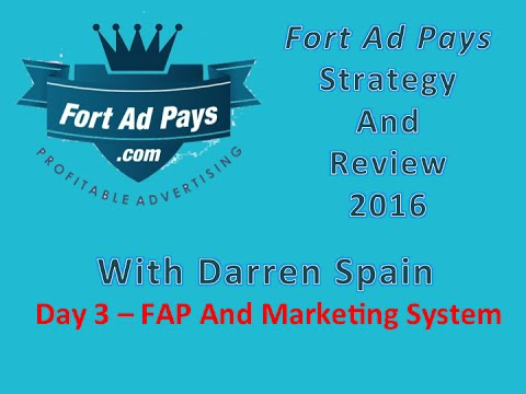 Fort Ad Pays Strategy Review - 2016 Day 3 With darren spain