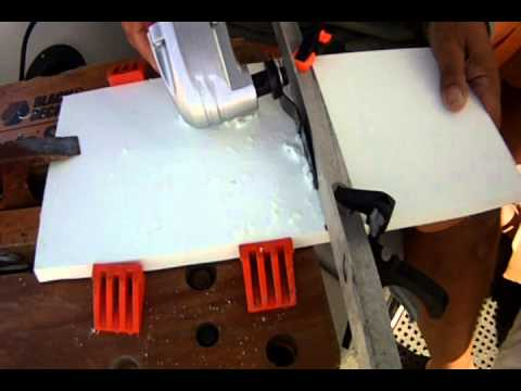 oscillating table saw. cutting star board with an oscillating multitool oscillating table saw