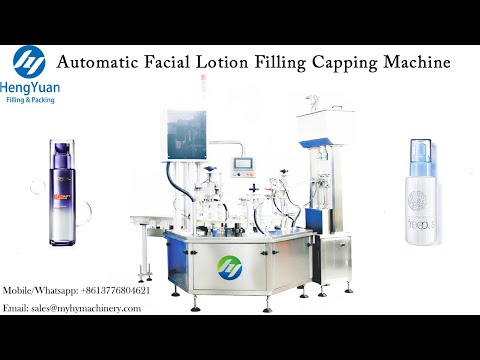 Automatic Facial Lotion Filling Capping Machine   Rotating Disc Type Filling Equipment
