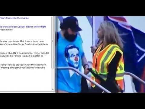 072c66c37 Patriots coach Matt Patricia wore a Roger Goodell clown t shirt on flight  back to Boston