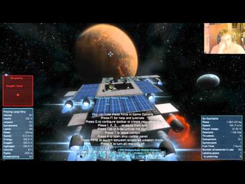 Near miss with asteroid with solar panel teleportation ship...