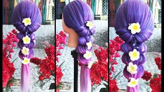 Top 10 Party Hairstyles Transformation-beautiful hair tutorial in 2018