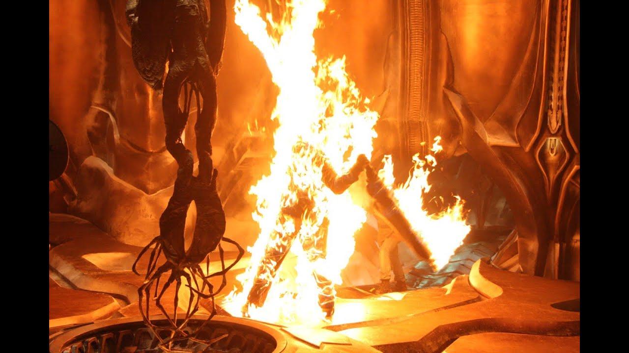 THING Full Body Burn Behind the Scenes Tom Woodruff - YouTube