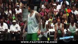 Chris Brown, Justin Bieber & Snoop Dogg at the BET AWARDS Celebrity Basketball Game Sprite