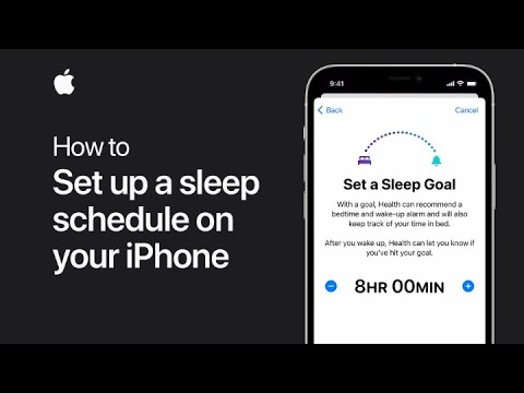How to set up a sleep schedule on your iPhone — Apple Support