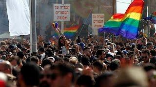 شاهد..مظاهرة حاشدة للشواذ في تل أبيب
