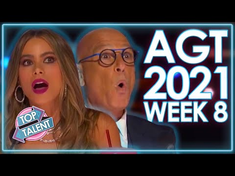 TOP 5 AMAZING Auditions On America's Got Talent 2021!   WEEK 8   Top Talent