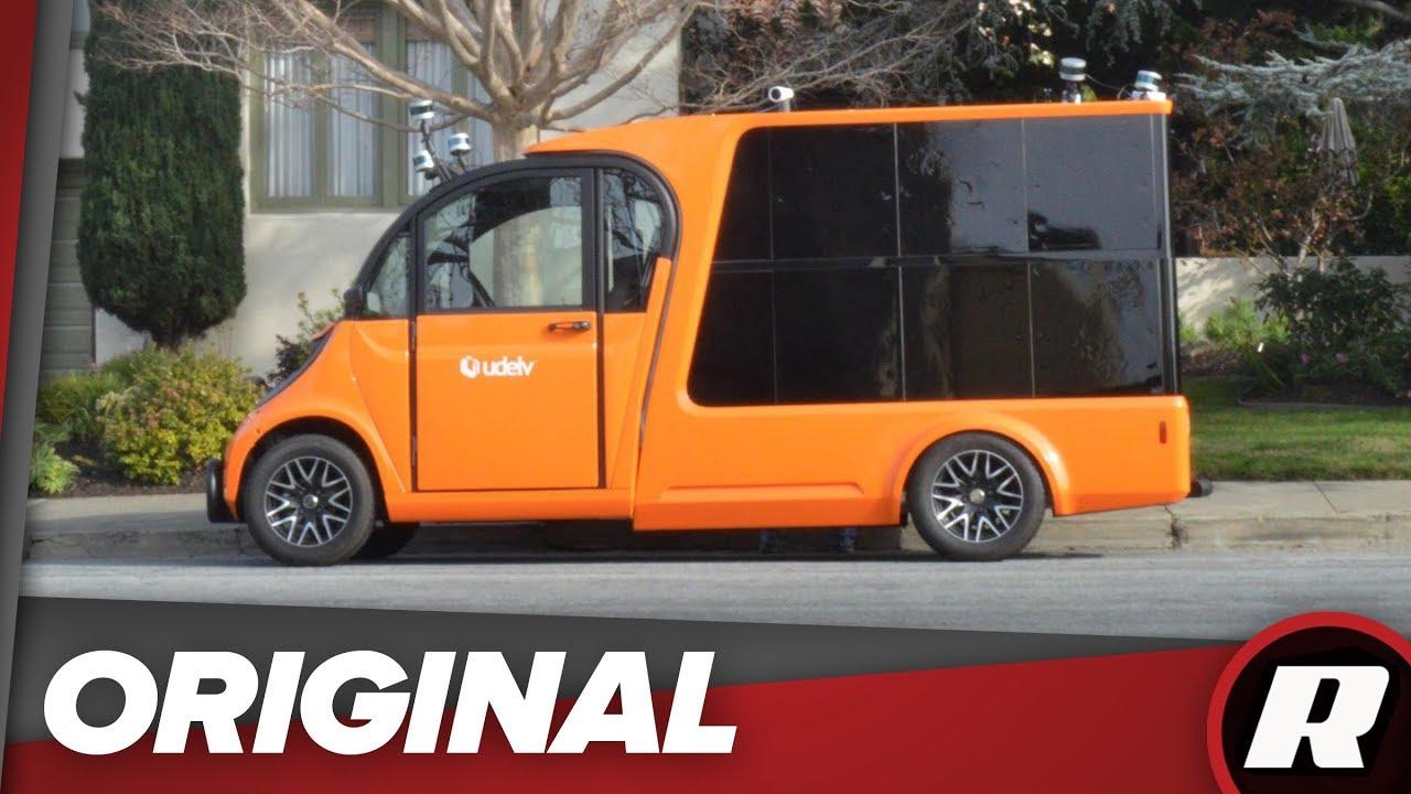 Udelv self-driving EV delivery truck hits the road in California - Dauer: 2 Minuten, 13 Sekunden