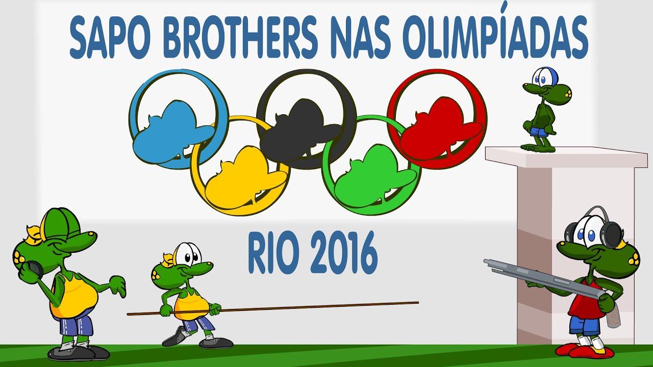 Jogos Olimpicos Em Desenho Animado Olimpiada Rio 2016 Com Os Sapo