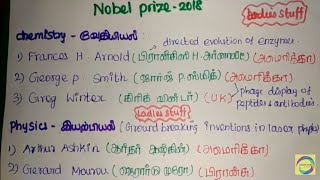 Nobel Prize 2018 - Shortcuts