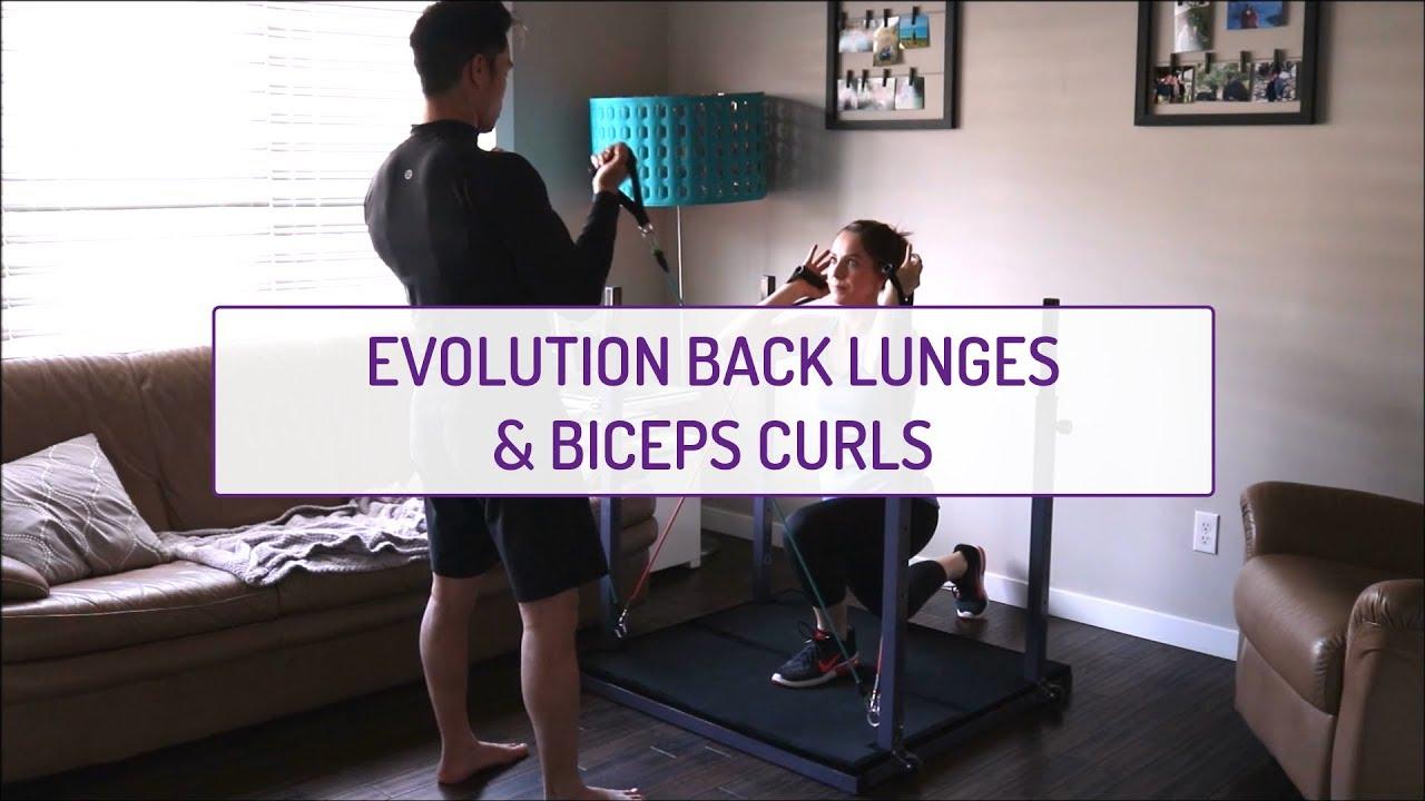 Partner Exercises | Evolution Back Lunges and Biceps Curls