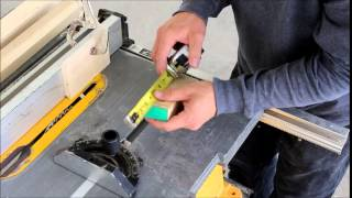 Cut Tenons On A Table Saw Easily
