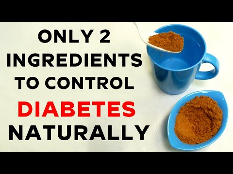 Only 2 ingredients to control sugar levels Naturally | Free Diabetes