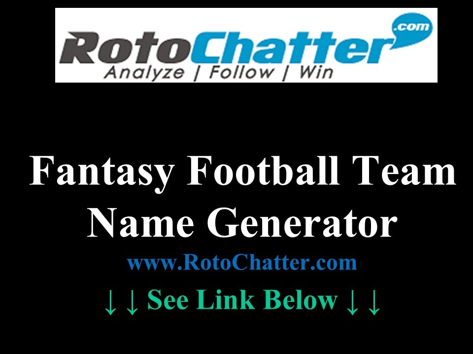 Fantasy Football Team Name Generator 2020 Beyond YouTube