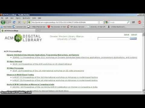 ACM Journals Tutorial